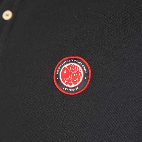 Pretty Green Mens Blue Likeminded Chest Badge Polo Shirt main image