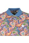 Pretty Green Mens Multicoloured Paisley Print Polo Shirt