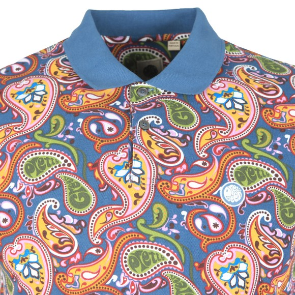 Pretty Green Mens Multicoloured Paisley Print Polo Shirt main image