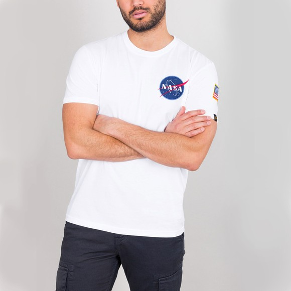 Alpha Industries Mens White Space Shuttle T Shirt main image