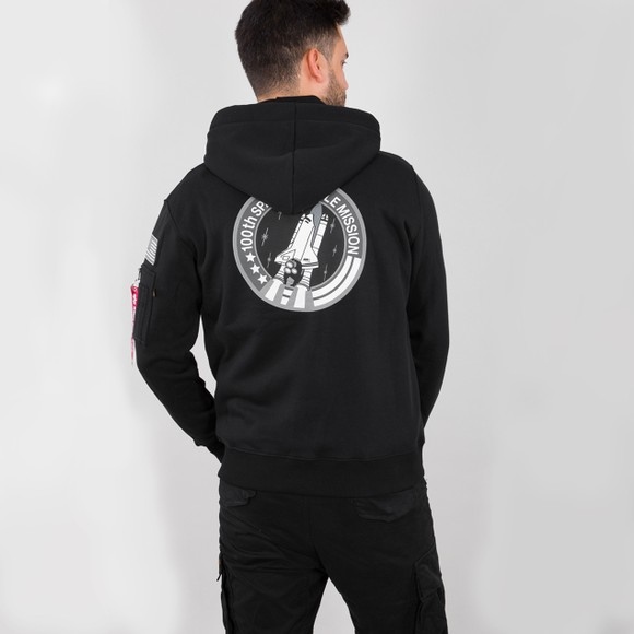 Alpha Industries Mens Black Space Shuttle Hoody main image