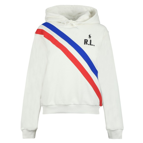 Polo Ralph Lauren Womens Off-White Double Stripe R.L Hoody main image