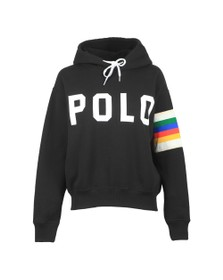 Polo Ralph Lauren Womens Black Rainbow Arm Hoody