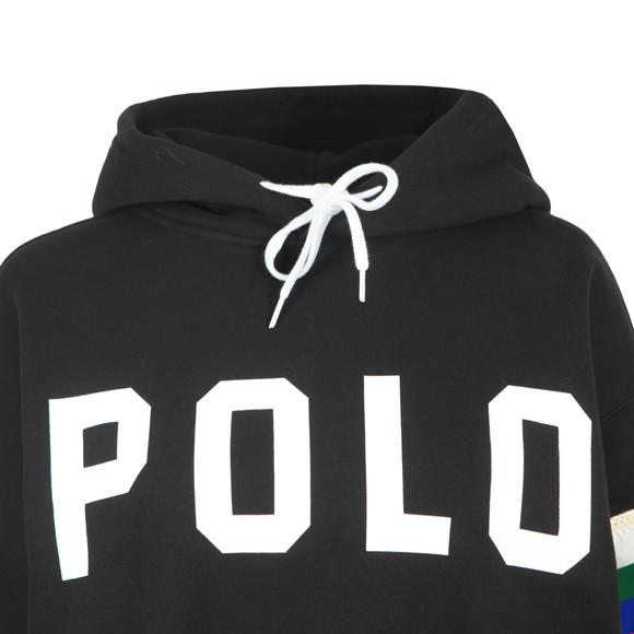Polo Ralph Lauren Womens Black Rainbow Arm Hoody
