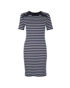 Superdry Womens Blue Eden Lace Mix Dress