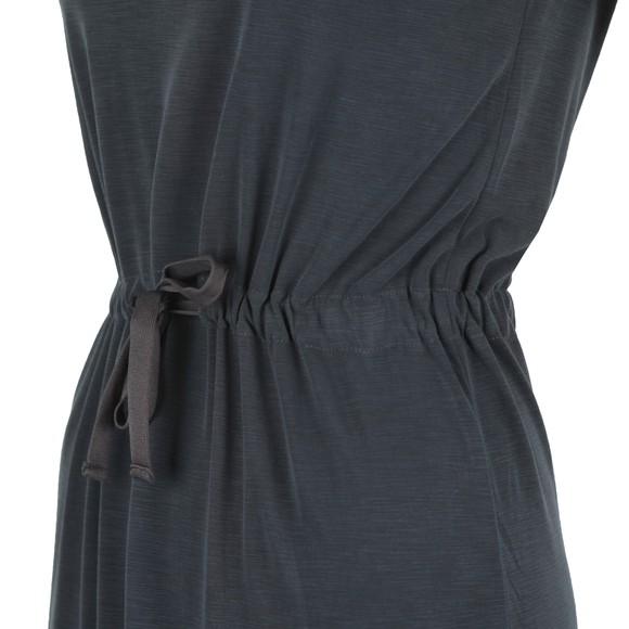 Superdry Womens Black Drawstring Midi Dress main image