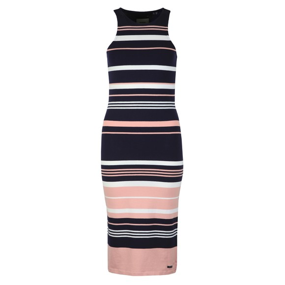 Superdry Womens Pink Verigated Stripe Midi Dress main image