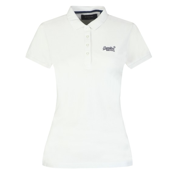 Superdry Womens White Polo Shirt