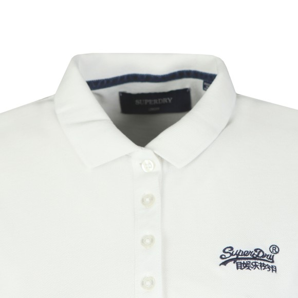 Superdry Womens White Polo Shirt main image