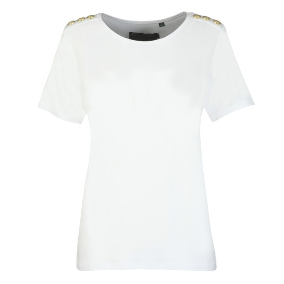 Holland Cooper Womens White Relax Fit Crew T Shirt