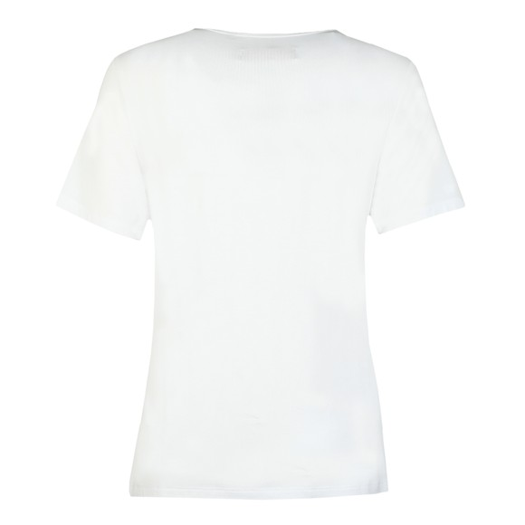 Holland Cooper Womens White Metallic Crew Neck T Shirt main image