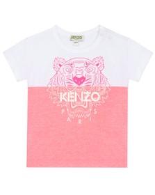 Kenzo Kids Girls White Split Tiger T-Shirt
