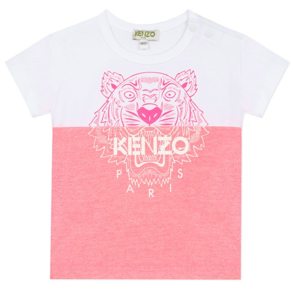 Kenzo Kids Girls White Split Tiger T-Shirt