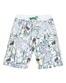 Kenzo Kids Boys White Jasper Disco Jungle Jersey Short