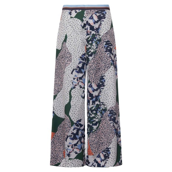 French Connection Womens Blue Asha Drape Printed Culotte