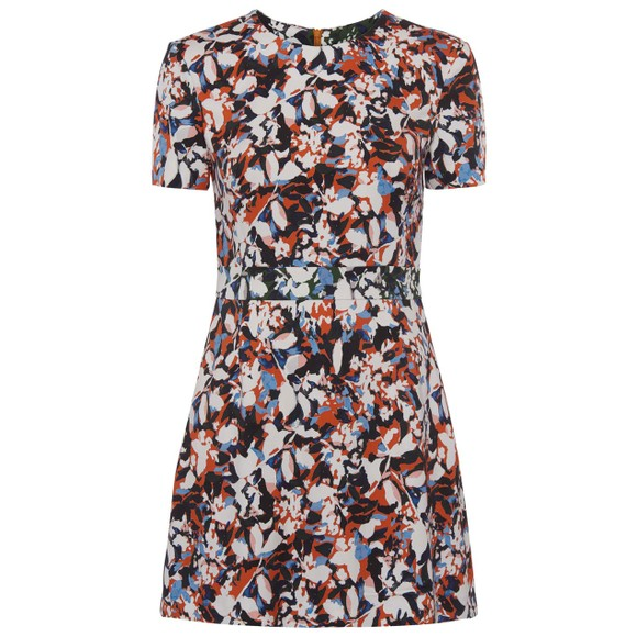 French Connection Womens Orange Enid Stretch Fit & Flare Dress main image