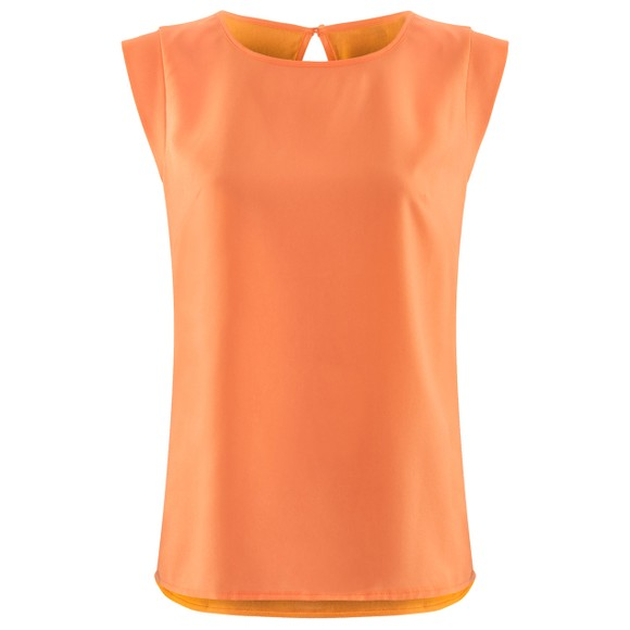 French Connection Womens Orange Abena Light Cap Sleeve Top