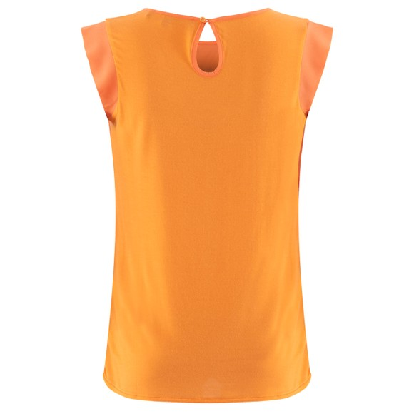French Connection Womens Orange Abena Light Cap Sleeve Top main image