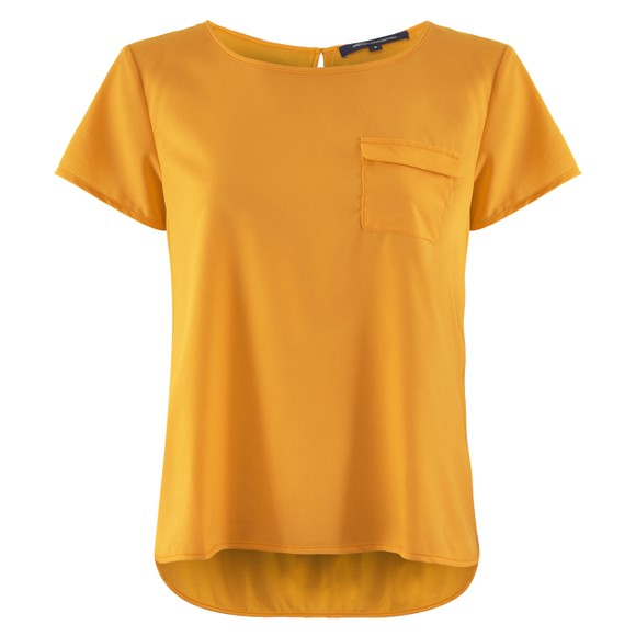 French Connection Womens Yellow Abena Light Round Neck Top main image