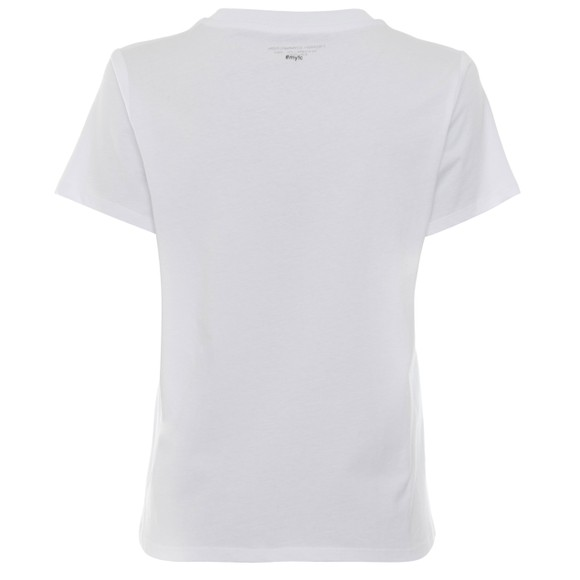 French Connection Womens White La Banane Boyfit T Shirt