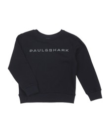 Paul & Shark Cadets Boys Blue Reflective Roundneck Sweatshirt