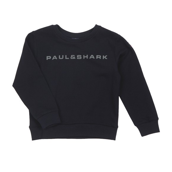 Paul & Shark Cadets Boys Blue Reflective Roundneck Sweatshirt main image