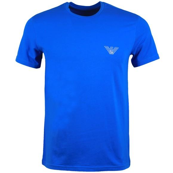 Emporio Armani Mens Blue Outline Logo Stretch T Shirt