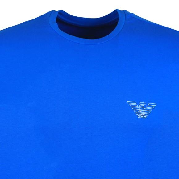 Emporio Armani Mens Blue Outline Logo Stretch T Shirt main image