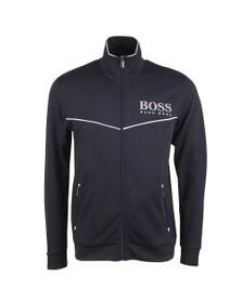 BOSS Bodywear Mens Blue Full Zip Small Logo Track Top