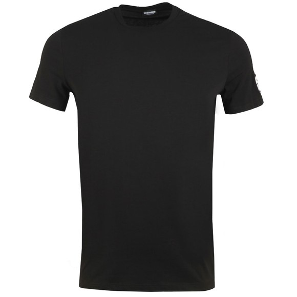 Dsquared2 Mens Black D2D2 Arm T-Shirt main image