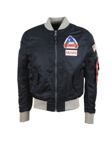 Alpha Industries Mens Blue Mission To Mars MA-1 Jacket