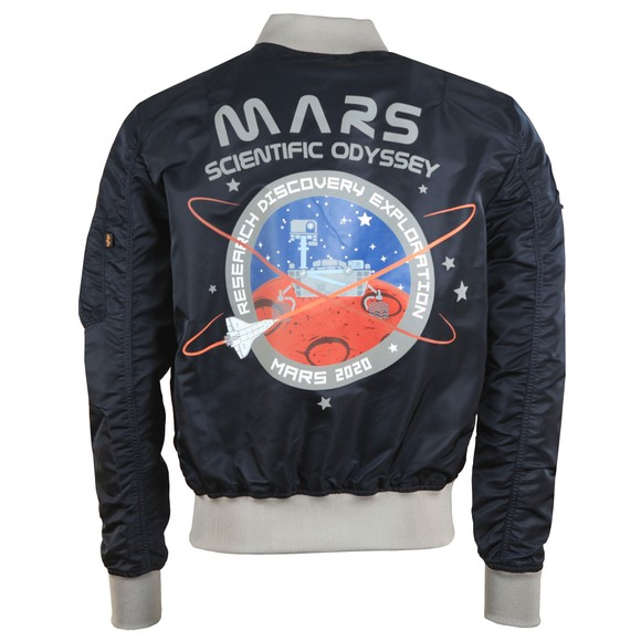 Alpha Industries Mens Blue Mission To Mars MA-1 Jacket main image