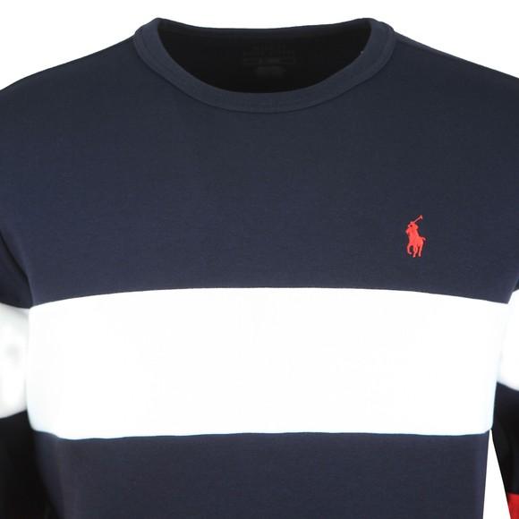 Polo Ralph Lauren Mens White Tri Colour Crew Sweatshirt