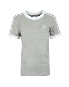 adidas Originals Womens Grey 3 Stripes T-Shirt