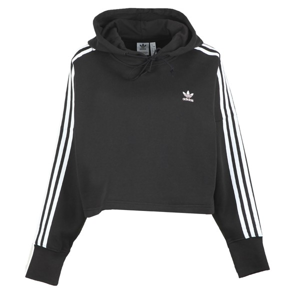 adidas Originals Womens Black Cropped Hoodie