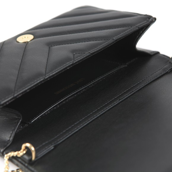 Love Moschino Womens Black Borsa All-over Heart Logo Bag main image