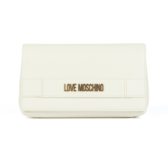 Love Moschino Womens Off-White Metal Plated Handbag