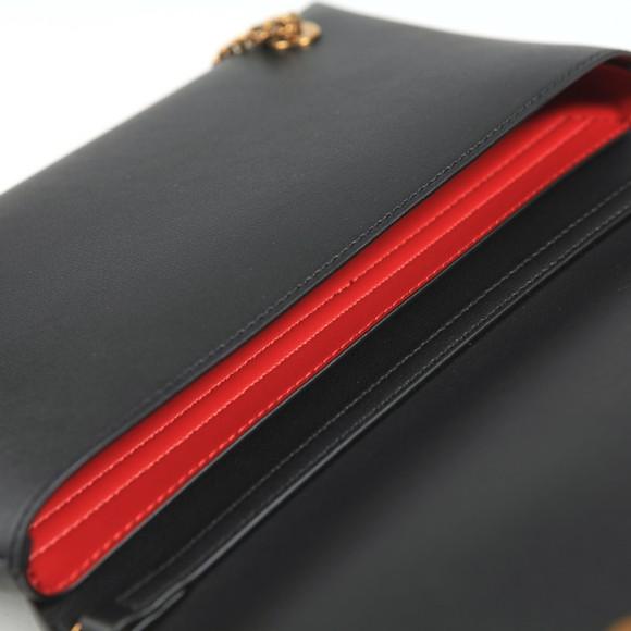Love Moschino Womens Black Metal Plated Handbag main image