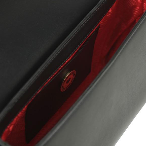 Love Moschino Womens Black Heart Box Plated Bag main image