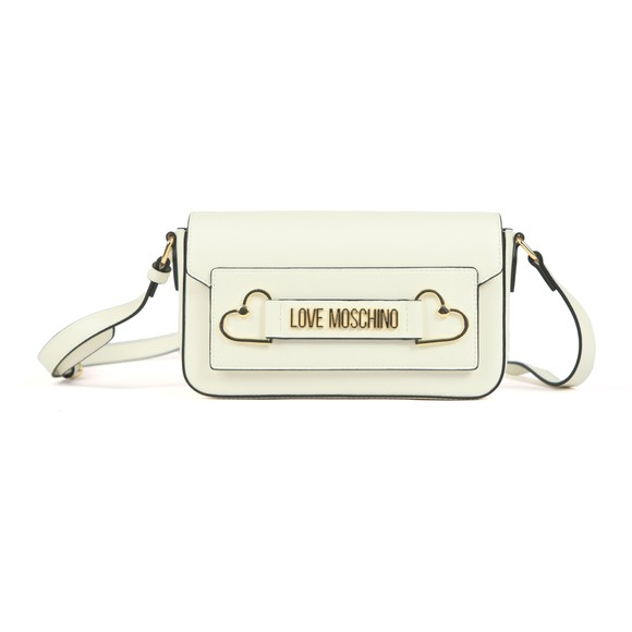 Love Moschino Womens Off-White Heart Box Plated Bag