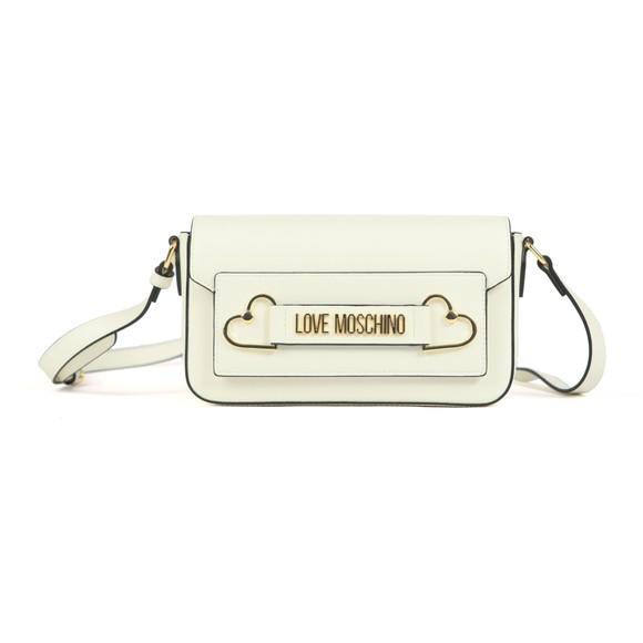 Love Moschino Womens Off-White Heart Box Plated Bag main image