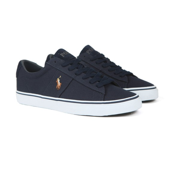Polo Ralph Lauren Mens Blue Sayer Canvas Trainer