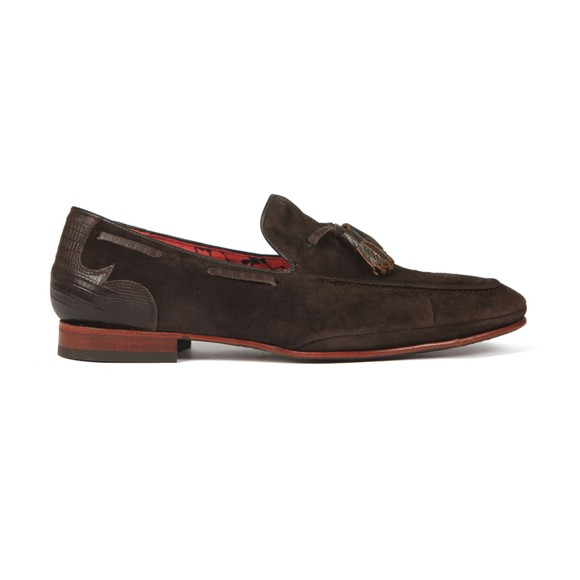 Jeffery West Mens Brown Martini Loafer