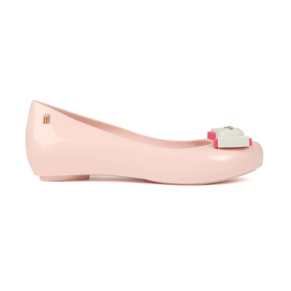 Vivienne Westwood Anglomania X Melissa Womens Pink Ultragirl 22 Bow Orb Shoe