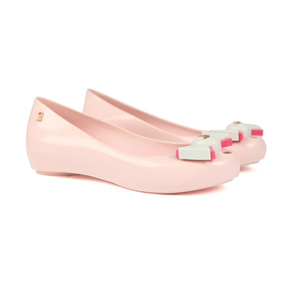 Vivienne Westwood Anglomania X Melissa Womens Pink Ultragirl 22 Bow Orb Shoe main image