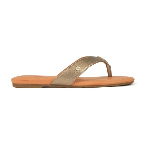 Ugg Womens Light Bronze Tuolumne Metallic Flip Flop