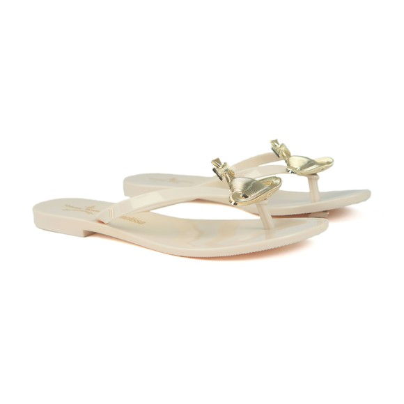 Vivienne Westwood Anglomania X Melissa Womens Off-White Harmonic Orb Flip Flop
