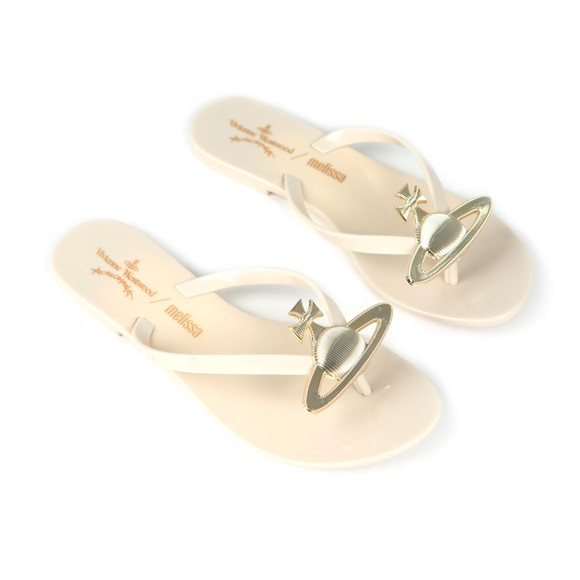 Vivienne Westwood Anglomania X Melissa Womens Off-White Harmonic Orb Flip Flop main image