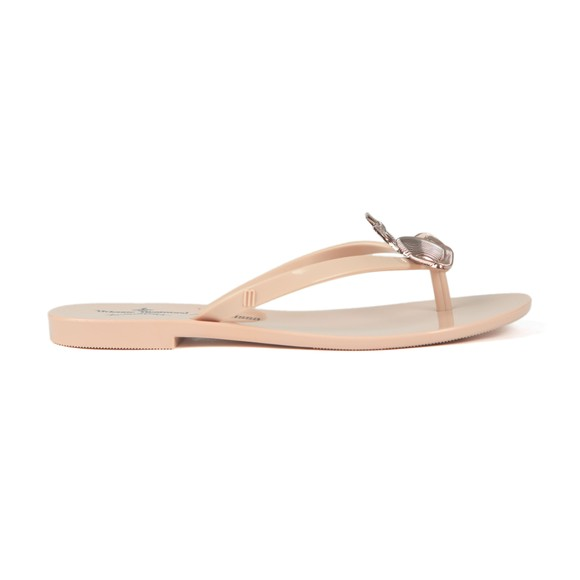 Vivienne Westwood Anglomania X Melissa Womens Pink Harmonic Orb Flip Flop