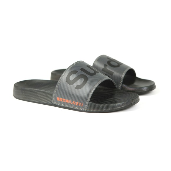 Superdry Mens Black Printed Beach Slide main image
